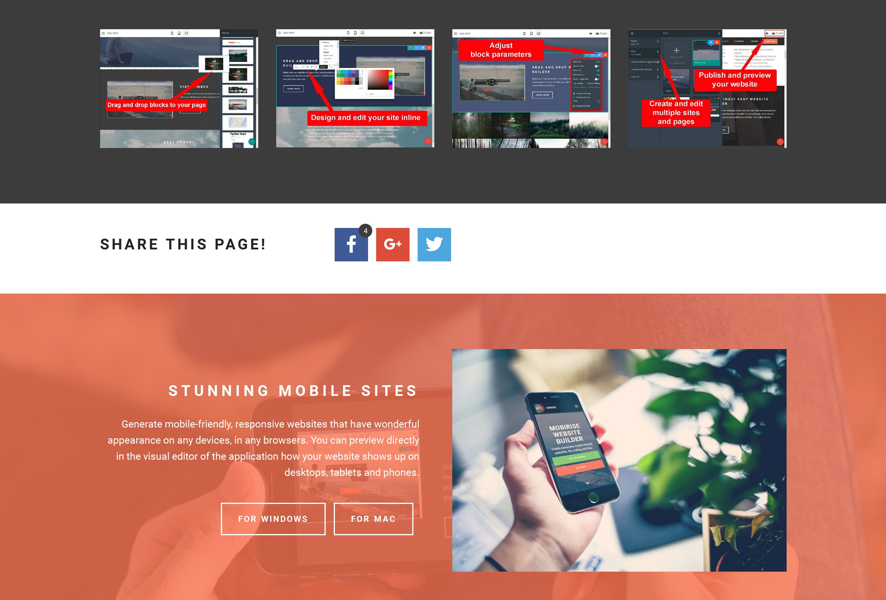 Quick Responsive Web Page  Builder Software
