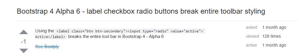 Checkbox radio buttons break entire toolbar styling