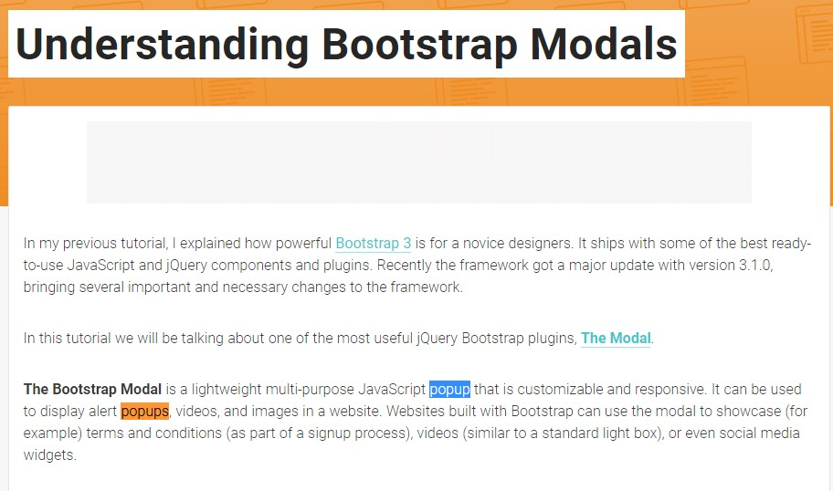 Yet another  beneficial  post  regarding to Bootstrap Modal Popup