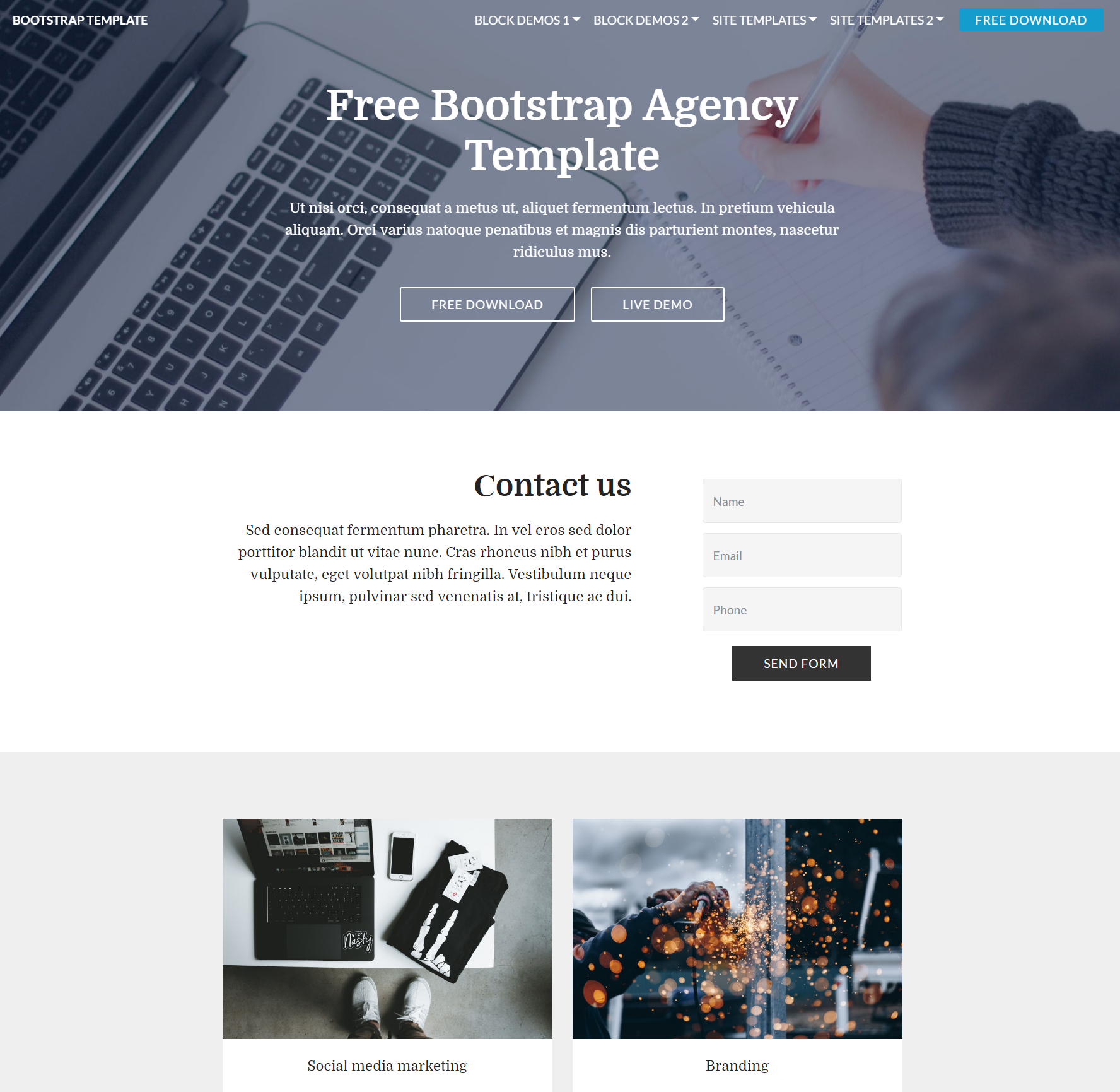 HTML5 Bootstrap  Agency Themes